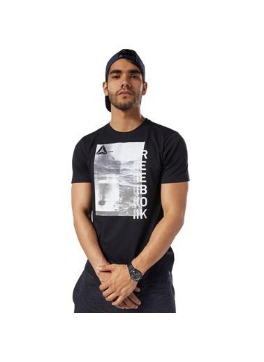 Reebok Gs Ost Photo Print Tee Erkek T-Shirt Siyah